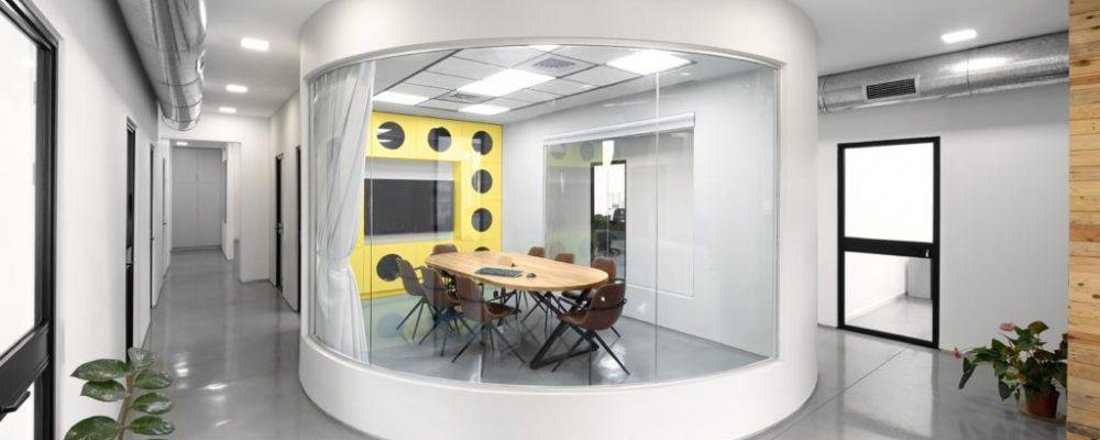 בטון מוחלק למשרדים